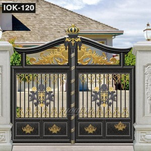 Wrought Iron Gate Ornaments for Hotel Garden IOK-120
