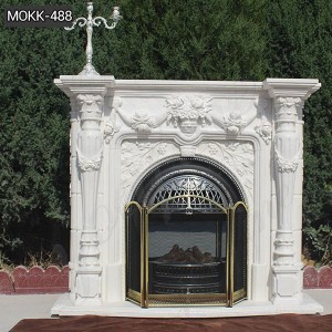 Hot Sale Hand carved Marble Fireplace for Home Decor MOKK-488