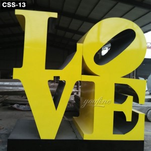 Classic Urban Decoration Love Sculpture New York CSS-13
