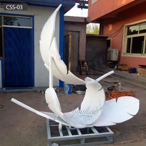 Feather Metal Sculpture outdoor modern metal sculpture CSS-03