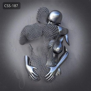 Modern Metal Art Love Design Stainless Steel Human Body Wall Sculpture for Sale CSS-187