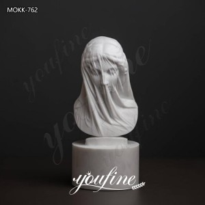 Veiled Vestal Virgin Statue Strazza Lady Marble Sculpture for MOKK-762
