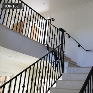 Iron staircase railing cost wrought iron staircase railing designs IOK-162