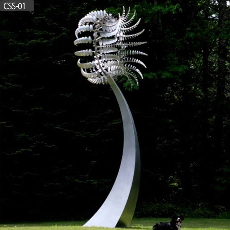Large size stainless steel outdoor kinetic sculptures for sale CSS-01 Featured Image