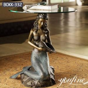 Prime Quality Bronze Mermaid Coffee Table Factory Supply BOKK-332