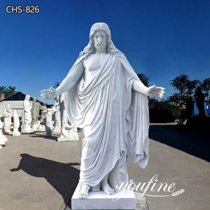 Hand Carved Marble Jesus Statue for Church Factory Supplier CHS-826