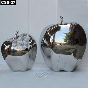 Modern Decorative Metal Apple Sculpture CSS-27
