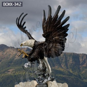 bronze eagle sculptures large bronze eagle statue BOKK-342