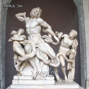 Marble Greek Famous Life Size Laocoon and His Sons Sculpture MOKK-266