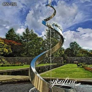 Garden Decorative Large Outdoor Metal Sculpture Fountain for Sale CSS-252