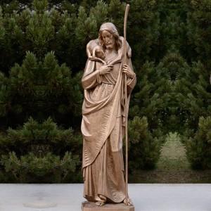 Outdoor Catholic the Good Shepherd Bronze Statue with Lamb for Sale BOKK-622