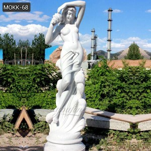 Beautiful hand carved white marble lady statue for sale MOKK-68