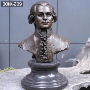 Cutom Bust Statue Bronze Bust Sculpture Custom Bust Sculpture of Musician Mozart BOKK-209
