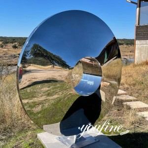 Modern garden decor mirror polished outdoor metal sculptures for sale CSS-41