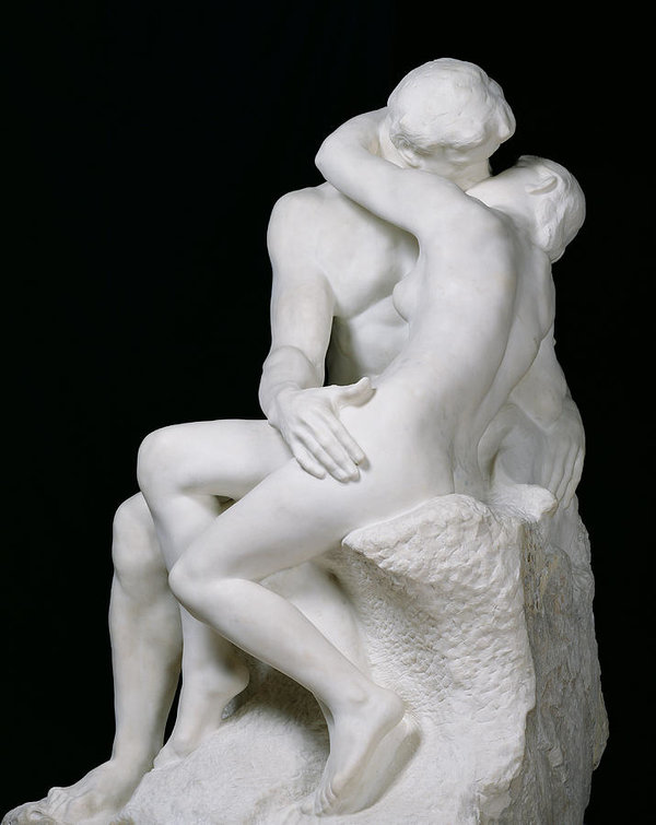 One Of The World Famous Top 10 Sculpture-The Kiss by Auguste Rodin