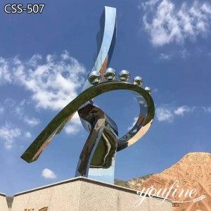 Abstract Metal Contemporary Outdoor Sculpture for Sale CSS-507