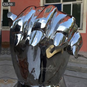 Hot Sale Mirror Polishing Stainless Steel Large Metal Sculptures for Sale CSS-10