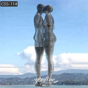 Large Abstract Stainless Steel Man and Woman Kinetic Sculpture for Sale CSS-114