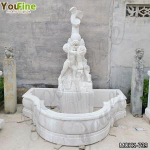 Hand Carved Marble Wall Fountain Garden Decor for Sale MOKK-739