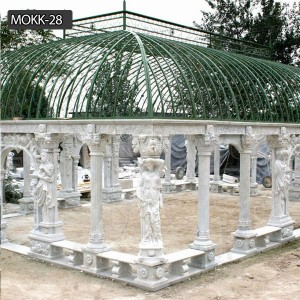 Roman Style Marble Pavilion Gazebo for Wedding Ceremony