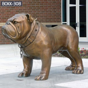 Dog Garden Statues Metal Dog Yard Art Life Size Dog Statues for Home Bulldog Statue BOKK-308