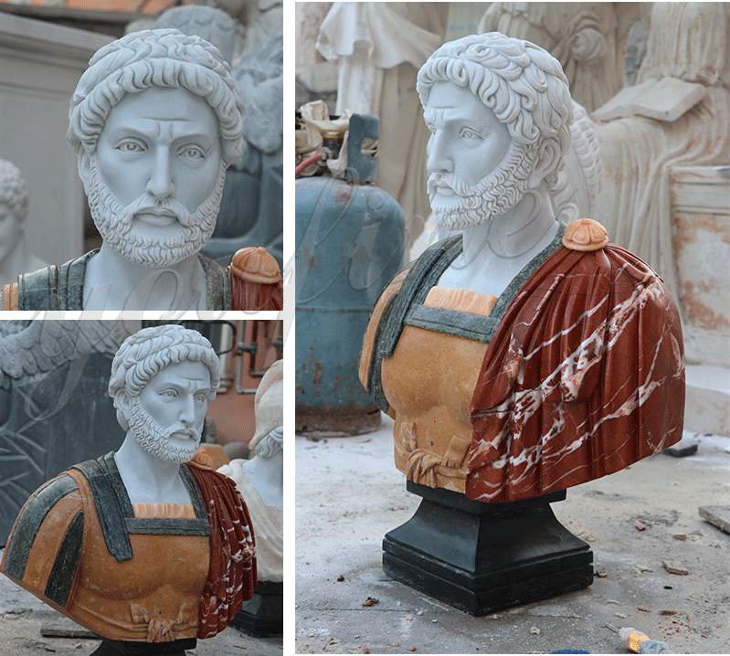custom made classical famous roman bust life size marble statues for sale