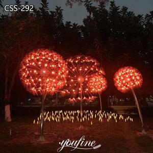 LED Metal Dandelion Light Sculpture Lawn Decor CSS-292