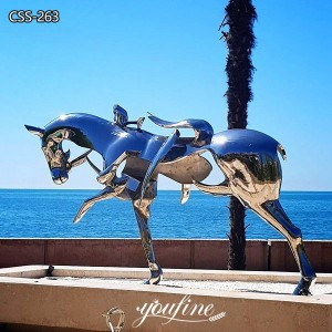 Hotel Contemporary Abstract Metal Horse Sculpture for Sale CSS-263