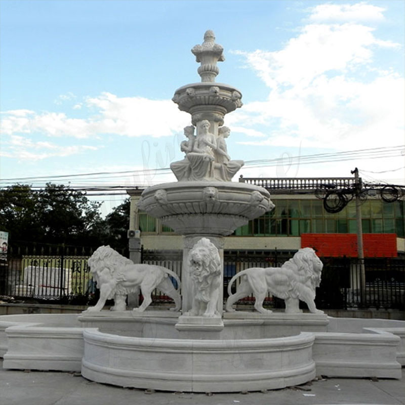 life-size-cheap-two-tiered-outdoor-garden-pure-white-marble-fountain-with-lion-and-figure-statue-for-sale1