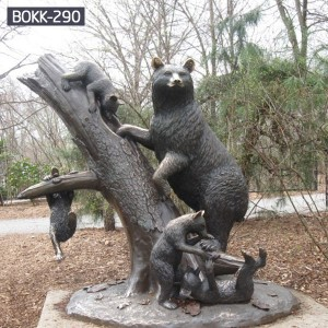 High Quality Life Size Bronze Bear Statue for Garden Decor Supplier BOKK-290