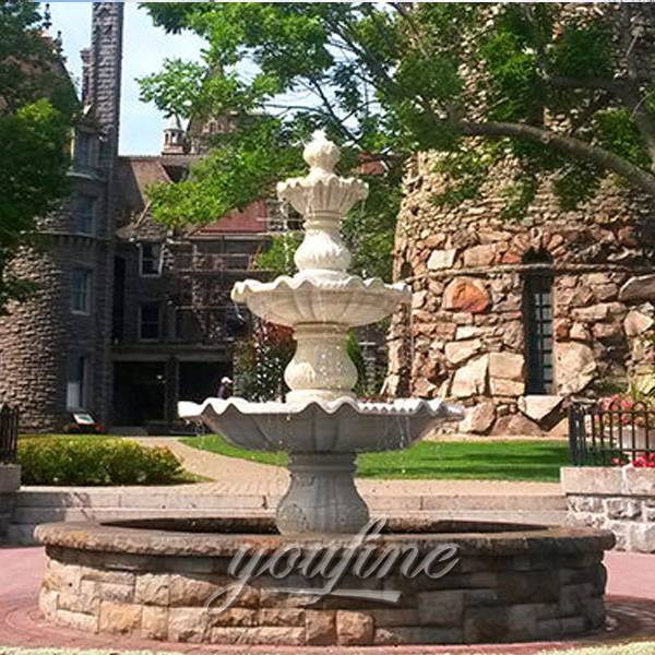 Outdoor classical 3 tier water garden stone fountain Featured Image