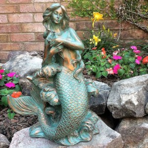 Large Outdoor Mermaid Statues Large Bronze Mermaid Statue Outdoor Mermaid Statue BOKK-705