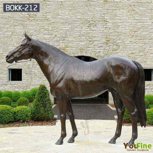 High Quality Life size horse statue for Garden Decor BOKK-212