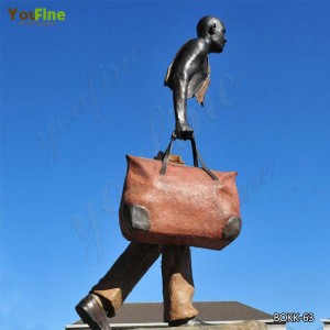 Life Size Bronze Bruno Catalano Travelers Replica for Sale Factory Supply BOKK-63
