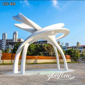 Modern Metal Abstract Sculpture Outdoor Decor for Sale CSS-428