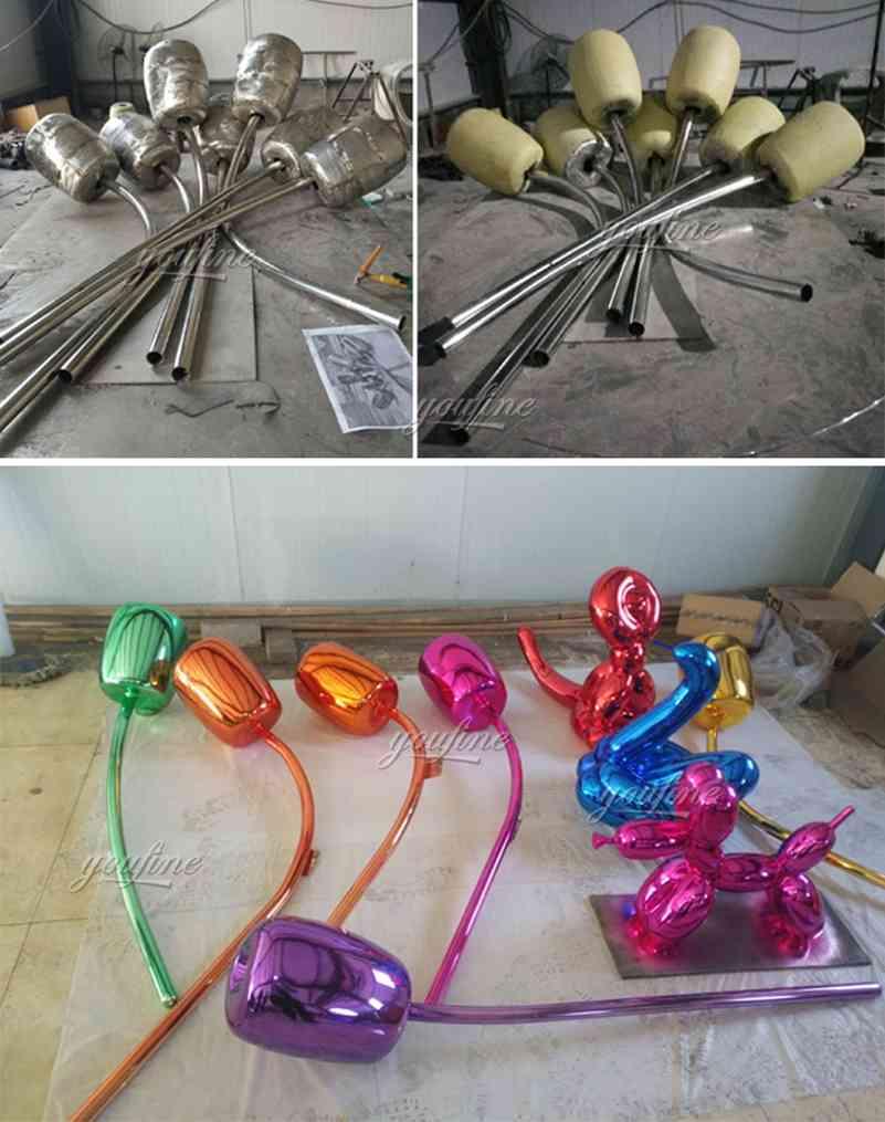 metal art tulip sculpture-3