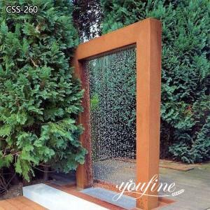 Hotel Garden Outdoor Metal Sculpture Fountain for Sale CSS-260