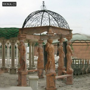 Luxury Decorative Outdoor White Marble Gazebo Supplier MOKK-25