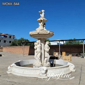 Hand Carved Figure Natural Marble Water Fountain for Sale MOKK-742