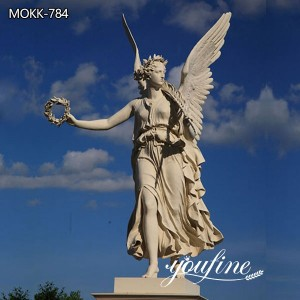Outdoor White Life-size Marble Angel Statue for Sale MOKK-784