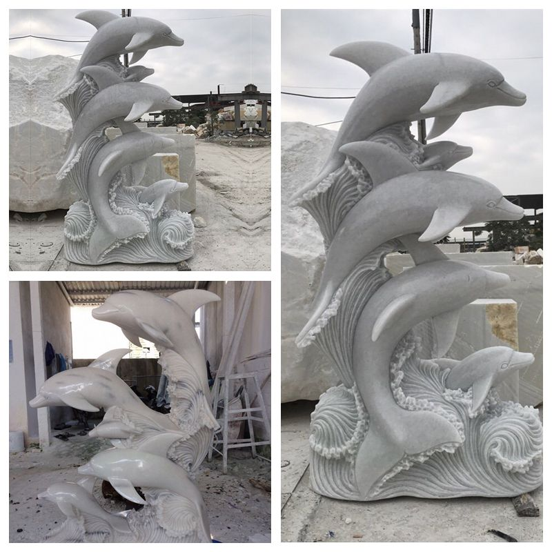 marble dolphin sculpture for sale