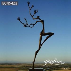 Outdoor Abstract Bronze Tree Figure Sculpture Dancing for Sale BOKK-423