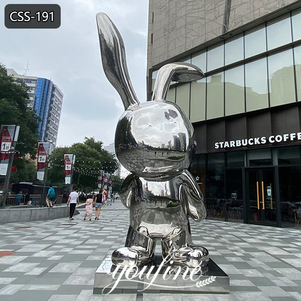Famous Modern Stainless Steel Rabbit Sculpture Jeff Koon Replica for Sale CSS-191 Featured Image