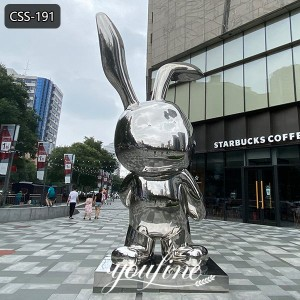 Famous Modern Stainless Steel Rabbit Sculpture Jeff Koon Replica for Sale CSS-191