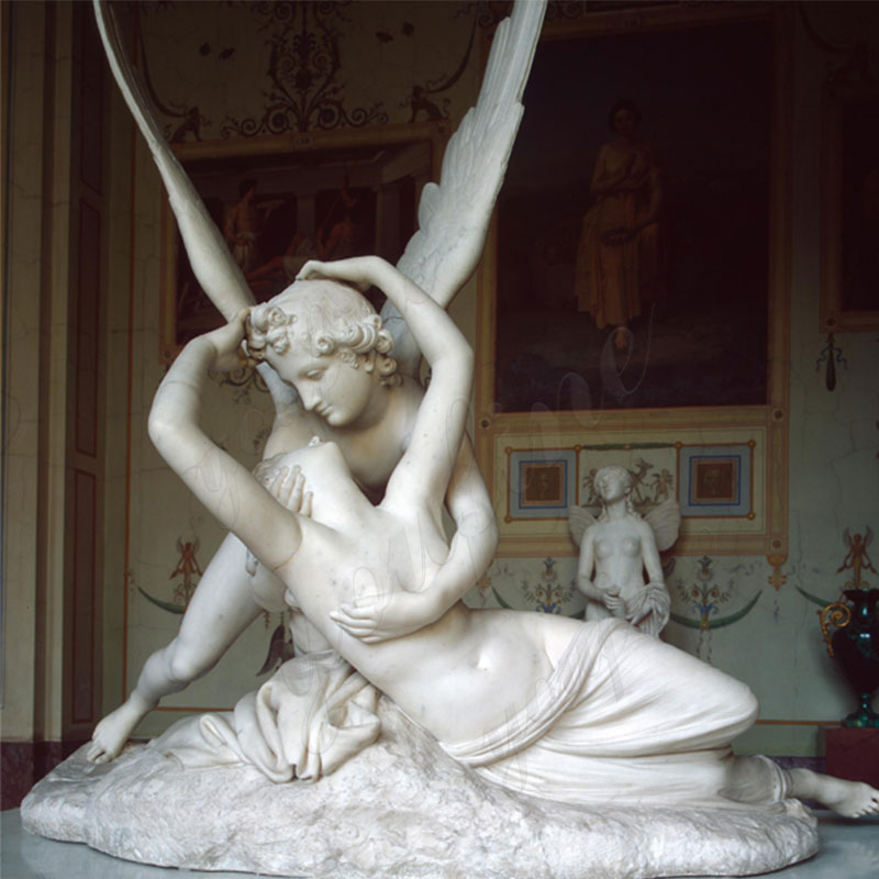 MOKK-442-Life-Size-Famous-Cupid-and-Psyche-Sculpture-Replica-in-White-Marble-Outdoor-Decor-for-Sale-1