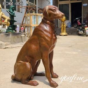 Fine Cast Bronze Dog Statue Pet Customization Manufacturer BOK1-006