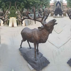 Beautiful bronze sculpture of christmas reindeer statue for sale