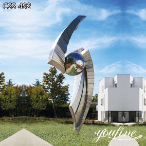Contemporary Large Stainless Steel Sculpture Urban Landscape for Sale CSS-492