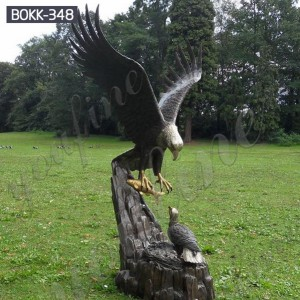 Bronze bald eagle statue large bronze eagle statues for sale BOKK-348
