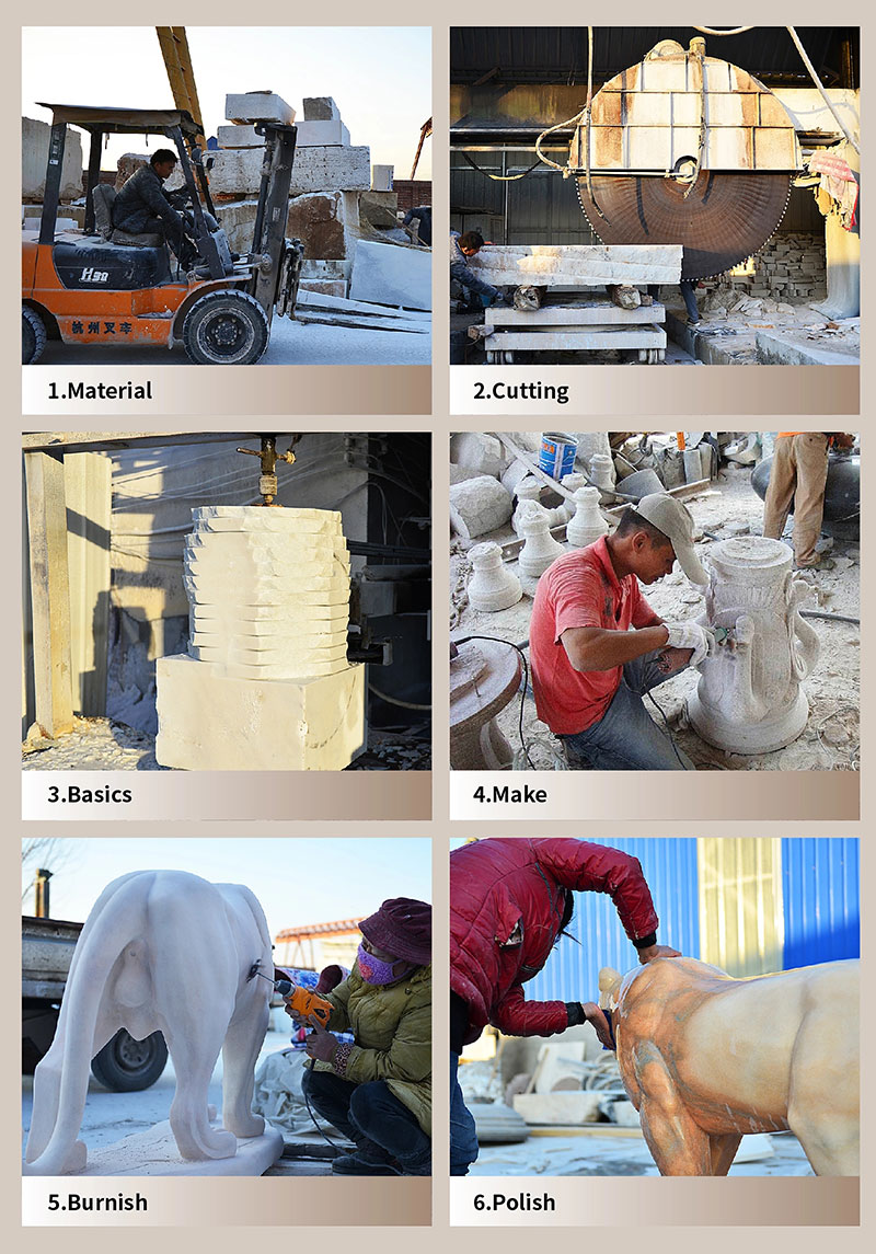 process of producing the marble crafts